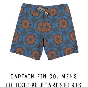 Captain Fin Lotuscope Boardshorts Size 32